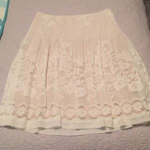 Floral laced skirt.